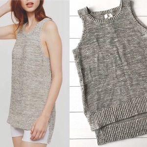 Lou & Grey || New! Marled Knit Sweater Tank M